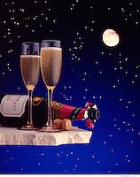 Champaigne And Moon
