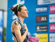 Gwen Jorgensen (USA). Vitality World Triathlon London, Hyde Park, London, UK on 31 May 2015. Photo: Simon Parker
