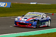 Dan Kirby(GBR) Rob Boston Racing sustained damage to the front left of his car during the Millers Oil Ginetta GT4 Supercup Championship at Knockhill Racing Circuit, Dunfermline, Scotland on 15 September 2019.
