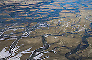 A small section of the many braids of the Chilkat River in southeast Alaska.