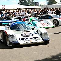 #2 Rothmans works Porsche 956 008, No. 2 driven by J. Mass, S. Bellof, here at Goodwood FOS 2008