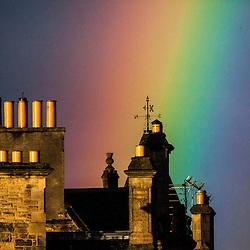 Rainbow over the Royal Mile in Edinburgh