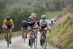 Lucinda Brand (Sunweb) at Strade Bianche - Elite Women. A 127 km road race on March 4th 2017, starting and finishing in Siena, Italy. (Photo by Sean Robinson/Velofocus)