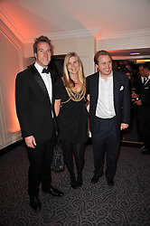Left to right, BEN FOGLE, JOE BAMFORD and his wife ALEX at Quintessentially's 10th birthday party held at The Savoy Hotel, London on 13th December 2010.