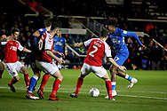 Peterborough United forward Ivan Toney (17) gets in a shot from the edge of the box during the EFL Sky Bet League 1 match between Peterborough United and Accrington Stanley at London Road, Peterborough, England on 20 October 2018.