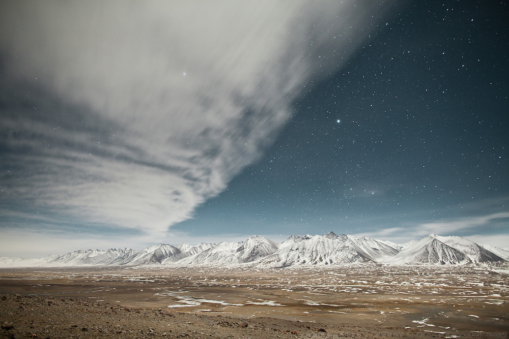 Night shot. View over the central Little Pamir.
