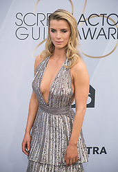 January 27, 2019 - Los Angeles, California, U.S - Betty Gilpin at the red carpet of the 25th Annual Screen Actors Guild Awards held at the Shrine Auditorium in Los Angeles, California, Sunday January 27, 2019. JAVIER ROJAS/PI (Credit Image: © Prensa Internacional via ZUMA Wire)
