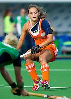 BOOM - Kelly Jonker  tijdens de eerste poule wedstrijd van Oranje tijdens het Europees Kampioenschap hockey   tussen de vrouwen Nederland en Ierland (6-0). ANP KOEN SUYK