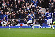Arouna Kone of Everton (c) celebrates after scoring his teams 2nd goal. Barclays Premier League match, Everton v Sunderland at Goodison Park in Liverpool on Sunday 1st November 2015.<br /> pic by Chris Stading, Andrew Orchard sports photography.