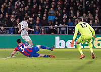 Football - 2017 / 2018 Premier League - Crystal Palace vs. Manchester United<br /> <br /> Juan Mata (Manchester United) is blocked by Martin Kelly (Crystal Palace) as he attacks at Selhurst Park.<br /> <br /> COLORSPORT/DANIEL BEARHAM