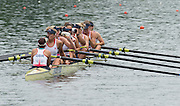 Lucerne, SWITZERLAND.  GBR W8+ Bow, Rosamund BRADBURY, Louisa REEVE, Katie GREVES, Donna ETIEBET, Jessica EDDIE, Zoe LEE, Polly SWANN, Caragh MCMURTRY and cox Zoe DE TOLEDO,  Re hydrate Racing for lanes  at the 2014 FISA WC III, Lake Rotsee.  11:53:04  Saturday  12/07/2014  [Mandatory Credit; Peter Spurrier/Intersport-images]