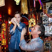 NLD/Amsterdam/20130311 - CD presentatie jubileum cd Danny de Munk, Danny en zoon Davey