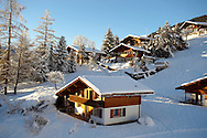 Swiss chalets in the winter snow near Grindelwald - Swiss Alps - Switzerland .<br /> <br /> Visit our SWITZERLAND  & ALPS PHOTO COLLECTIONS for more  photos  to browse of  download or buy as prints https://funkystock.photoshelter.com/gallery-collection/Pictures-Images-of-Switzerland-Photos-of-Swiss-Alps-Landmark-Sites/C0000DPgRJMSrQ3U