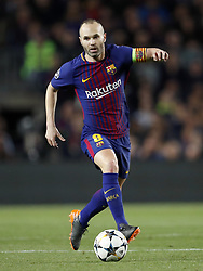 Andres Iniesta of FC Barcelona during the UEFA Champions League quarter final match between FC Barcelona and AS Roma at the Camp Nou stadium on April 04, 2018 in Barcelona, Spain.
