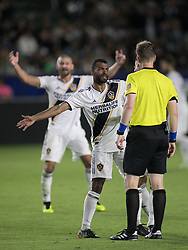 May 30, 2018 - Carson, California, U.S - Ashley Cole #3 and Tomas Hilliard-Arce #20 of the LA Galaxy want a call for a penalty during their MLS game against FC Dallas on Wednesday, May 30, 2018 at the Stub Hub Center in Carson, California. LA Galaxy Lose to FC Dallas, 2-3 (Credit Image: © Prensa Internacional via ZUMA Wire)