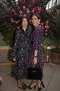 LILY WORCESTER;  NATHALIE SALMON, spotted at Bloom & Wild's exclusive event at 5 Hertford Street last night. 5 September 2017. The event was announcing the new partnership between the UK's most loved florist, Bloom & Wild and British floral design icon Nikki Tibbles Wild at Heart. Cocooned in swaths of vibrant Autumn blooms, guests enjoyed floral-inspired cocktails from Sipsmith and bubbles from Chandon, with canapés put on by 5 Hertford Street. Three limited edition bouquets from the partnership can be bought through Bloom & Wild's website from the 1st September.  bloomandwild.com/WAH