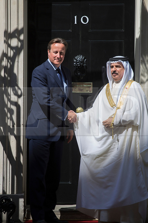 © licensed to London News Pictures. London, UK 06/08/2013. Prime Minister David Cameron meeting King of Bahrain, Hamad bin Isa Al Khalifa on Downing Street on Tuesday, August 08, 2013. Photo credit: Tolga Akmen/LNP