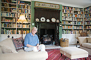 Will Gissane in the library at his Herefordshire home<br /> CREDIT: Vanessa Berberian for The Wall Street Journal<br /> HOBBY-Gissane/UK