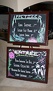 Featured items at fine dining Salt Rock Grill which overlooks The Narrows of the Gulf Intercoastal Waterway.  Indian Shores Tampa Bay Area Florida USA
