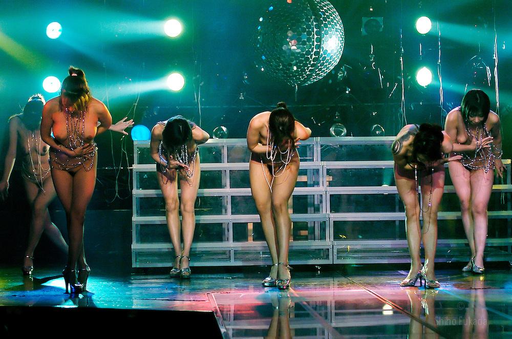 Strippers perform in Tokyo, Japan.