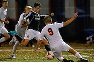 Olmsted Falls High School vs Berea-Midpark High School boys varsity soccer on Oct. 28, 2015. Images © David Richard and may not be copied, posted, published or printed without permission.<br /> @DavidRichardPix