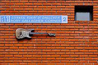 République d'Irlande, Dublin, quartier de Temple Bar , homage à Rory Gallagher // Republic of Ireland; Dublin, the touristic Temple Bar area, Rory Gallagher tribute