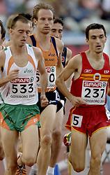 10-08-2006 ATLETIEK: EUROPEES KAMPIOENSSCHAP: GOTHENBORG <br /> Gert Jan Liefers plaatst zich vrijeenvoudig voor de finale op de 5000 meter.  Alistair Cragg en de Spanjaard Jesus Espana (237)<br /> ©2006-WWW.FOTOHOOGENDOORN.NL