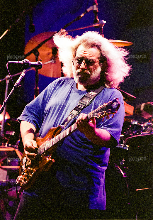 Jerry Garcia performing with The Grateful Dead at RFK Stadium on June 14, 1991. Solo Photo