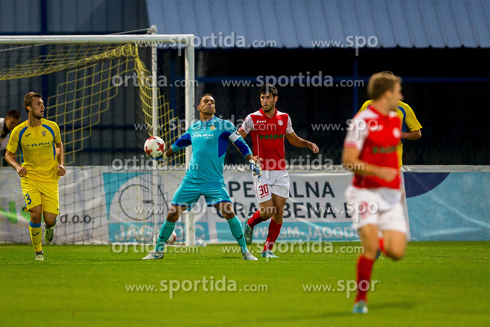 Dejan Milic of NK Domzale during football match between NK Domžale and NK Aluminij in 6th Round of Prva liga Telekom Slovenije 2017/18, on August 20, 2017 in Sports park Domzale, Domzale. Photo by Ziga Zupan / Sportida