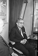 Acting Secretary-General of the U.N., U. Thant, speaking at a press conference at Dublin Airport..13.07.1962