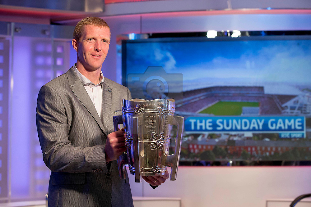 Repro Free: Henry Shefflin pictured in the Sunday Game studio in RTÉ. Picture Andres Poveda