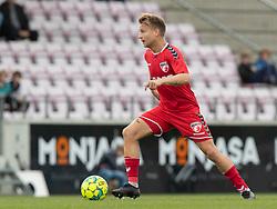 Mathias Gertsen (FC Fredericia) under kampen i 1. Division mellem FC Fredericia og FC Helsingør den 4. oktober 2020 på Monjasa Park i Fredericia (Foto: Claus Birch).