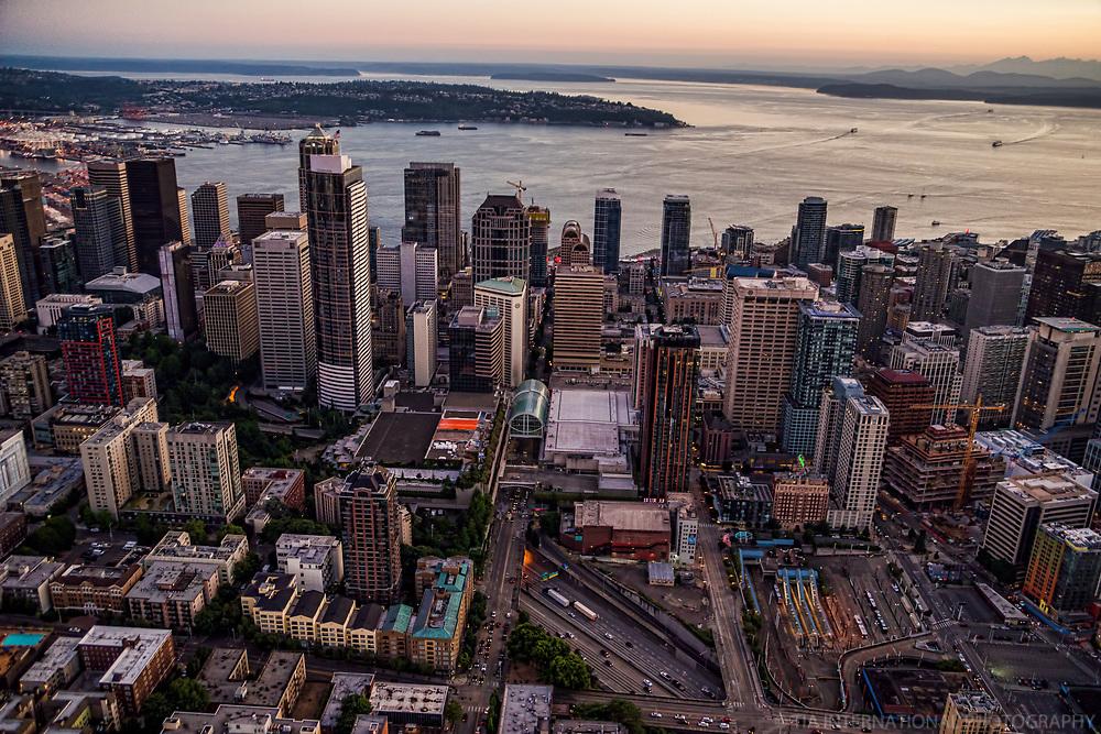 Core of Downtown Seattle & Elliott Bay
