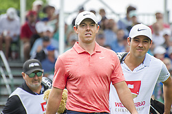 May 5, 2019 - Charlotte, North Carolina, United States of America - Rory McIlroy walks down the fairway after teeing off on the first hole during the final round of the 2019 Wells Fargo Championship at Quail Hollow Club on May 05, 2019 in Charlotte, North Carolina. (Credit Image: © Spencer Lee/ZUMA Wire)