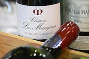 bottles chateau les mangons sainte foy bordeaux france