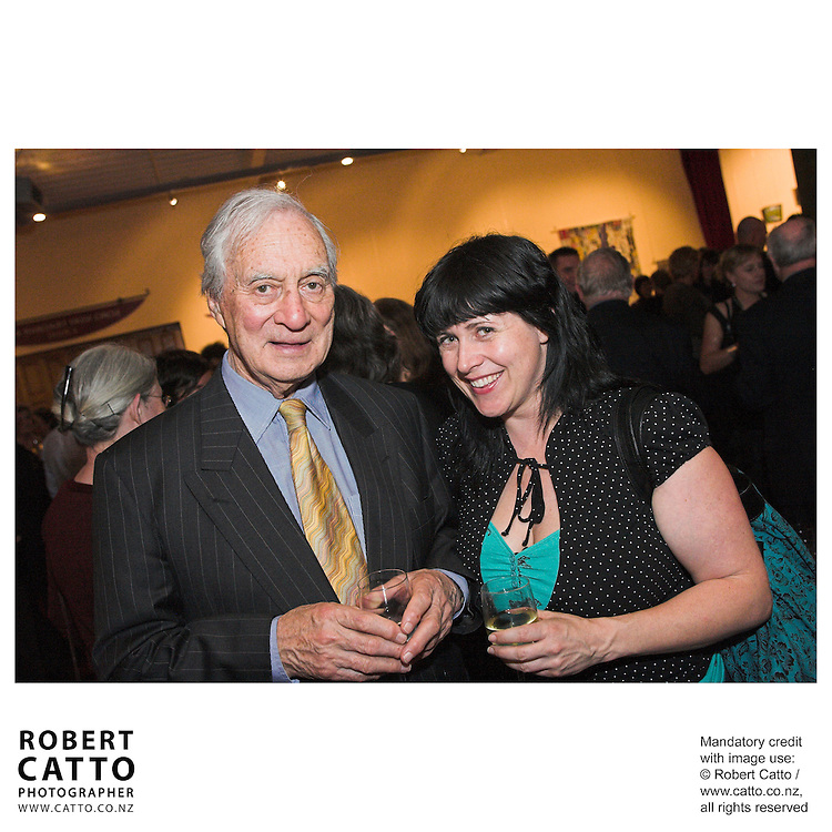 Sir Ron Scott;Gemma Gracewood at the Arts Foundation of New Zealand New Generation Awards at the St James Theatre, Wellington, New Zealand.<br />