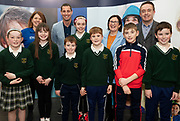 24/11/2019 repro free:<br /> XXX Medtronic   with Ronan Rogers - Senior R&D Director, Medtronic St Vincents national school killanin<br /> Múinteoir: Geraldine Whelan, Pupils: Aisling Cronin <br /> Tara Quinn, Ronan Coyle, Susan Quinn, Conor O Callaghan, Davitt O' Brien, Fergal Coyle and Paul Mee, Chairperson, Galway Science and Technology Festival,  at their final day exhibition  at NUI Galway where over 20,000 people attended exhibition stands  from schools to Multinational Companies . Photo:Andrew Downes, xposure