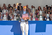 """Henley on Thames, United Kingdom, 8th July 2018, Sunday, Winner, """"the Diamond Challenge Sculls"""", Mahe DRYSDALE, NZL M1X,   """"Fifth day"""", of the annual,  """"Henley Royal Regatta"""", Henley Reach, River Thames, Thames Valley, England, © Peter SPURRIER,"""