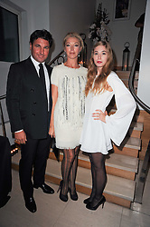 GIORGIO VERONI his wife TAMARA BECKWITH and her daughter ANOUSKA GERHAUSER at the launch party for 'Promise', a new capsule ring collection created by Cheryl Cole and de Grisogono held at Nobu, Park Lane, London on 29th September 2010.
