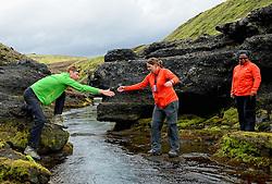 09-07-2014 ISL: Iceland Diabetes Challenge Dag 5, Emstrur<br /> Van Alftavatn naar Emstrur / Sabine Woesthoff, Bas van de Goor