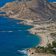 Aerial view of Chileno beach. Cabo San Lucas,Baja California Sur, Mexico.