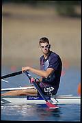 Sydney, AUSTRALIA,  USA M1X, Don SMITH. 2000 Olympic Regatta, West Lakes Penrith. NSW.  [Mandatory Credit. Peter Spurrier/Intersport Images] Sydney International Regatta Centre (SIRC) 2000 Olympic Rowing Regatta00085138.tif