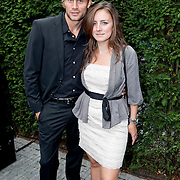 NLD/Amsterdam/20110825 - Uitreiking Jackie's Best Dressed List 2011, Robin Zijlstra en partner Linda