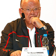 Olimpiakos head coach Dusan Ivkovic seen during their Two Nations Cup Press Conference press conference at Anadolu Efes sports hall in Istanbul Turkey on Friday 30 September 2011. Photo by TURKPIX