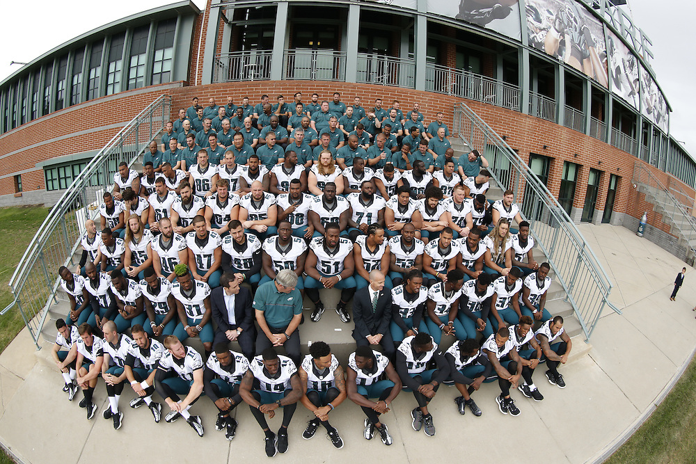 during the Philadelphia Eagles Team Photo at The Novacare Complex in Philadelphia on Saturday September 24th 2016. (Brian Garfinkel/Philadelphia Eagles)