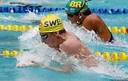 Belo Horizonte_MG, Brasil...Copa do Mundo de Natacao 2007. Na foto o nadador Andersson Jonas, da Suecia, vencedor da prova 200m Peito...Swimming World Cup 2007. In this photo the swimmer Andersson Jonas, of Sweden, She is the champion in the 200m breaststroke, in Belo Horizonte...Foto: LEO DRUMOND /  NITRO