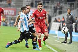 17.03.2017, Allianz Arena, Muenchen, GER, 2. FBL, TSV 1860 Muenchen vs Würzburger Kickers, 25. Runde, im Bild Maximilian Wittek (TSV 1860 Muenchen), Ivica Olic (TSV 1860 Muenchen), Nejmeddin Daghfous (FC Wuerzbuger Kickers), v.li.Aktion // during the 2nd German Bundesliga 25th round match between TSV 1860 Muenchen and Würzburger Kickers at the Allianz Arena in Muenchen, Germany on 2017/03/17. EXPA Pictures © 2017, PhotoCredit: EXPA/ Eibner-Pressefoto/ Buthmann<br /> <br /> *****ATTENTION - OUT of GER*****