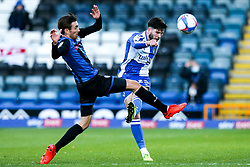 Cian Harries of Bristol Rovers clears the ball - Mandatory by-line: Robbie Stephenson/JMP - 31/10/2020 - FOOTBALL - Crown Oil Arena - Rochdale, England - Rochdale v Bristol Rovers - Sky Bet League One
