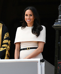 The Duchess of Sussex attending a lunch at Chester Town Hall