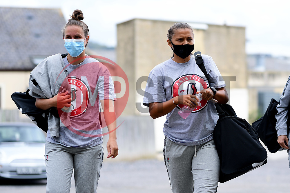 Emma Bissell of Bristol City arrives at Twerton Park prior to kick off - Mandatory by-line: Ryan Hiscott/JMP - 06/09/2020 - FOOTBALL - Twerton Park - Bath, England - Bristol City Women v Everton Ladies - FA Women's Super League